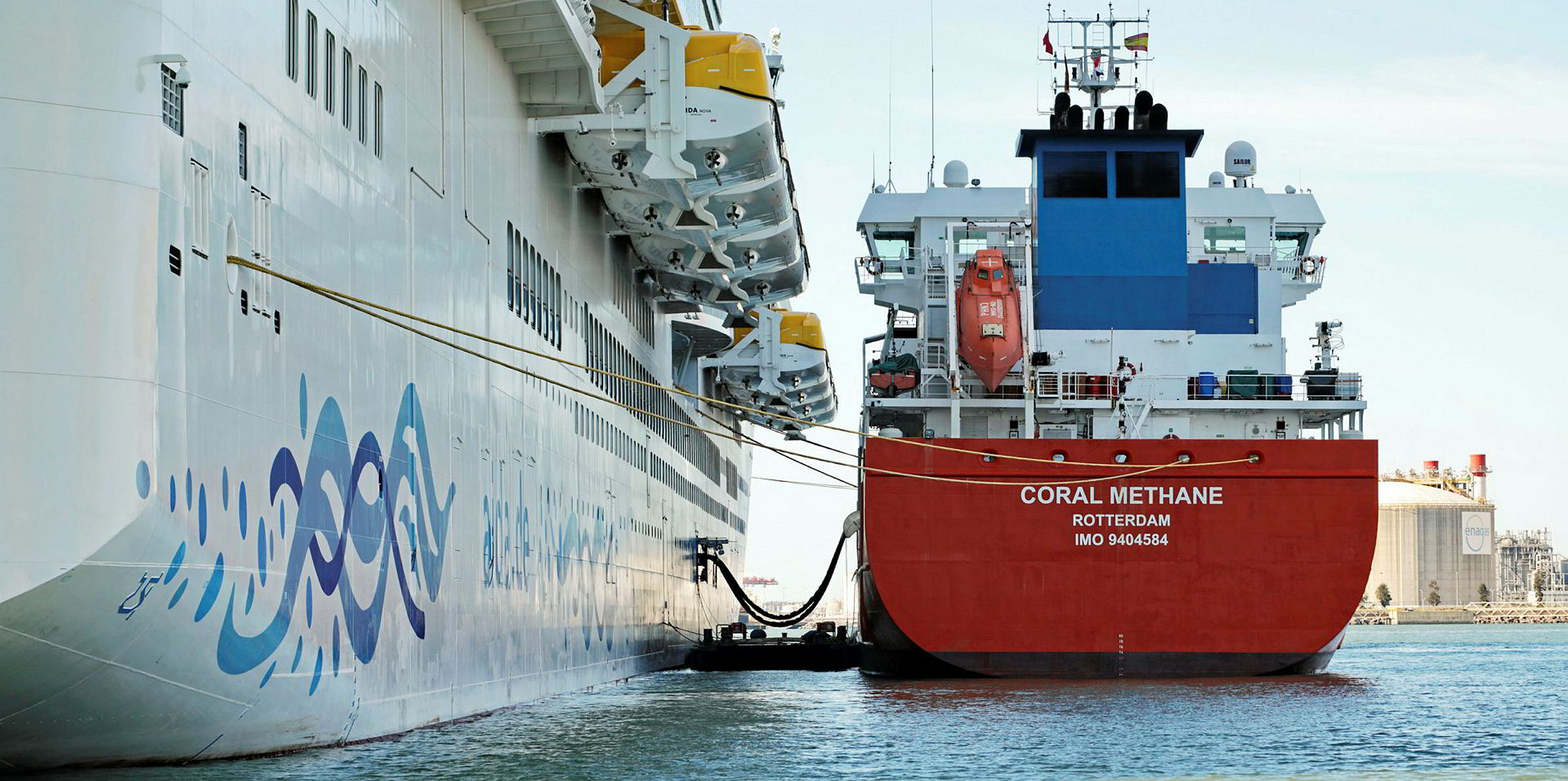 Total and Shell float tenders for large LNG bunker vessels   TradeWinds