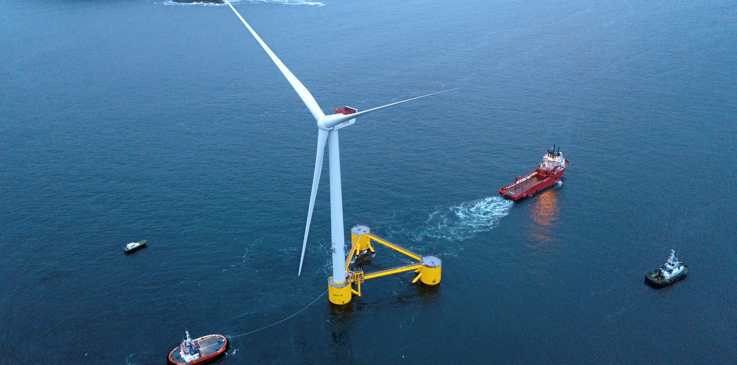 Flagship heads out for Atlantic Ocean's first floating wind array | Recharge